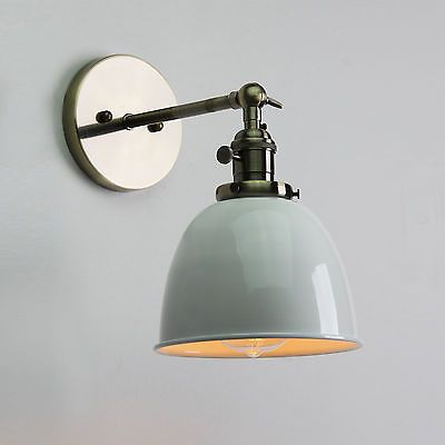 VINTAGE ANTIQUE INDUSTRIAL BOWL SCONCE LOFT WALL LIGHT WALL LAMP E27 LED BULB in Home, Furniture & DIY, Lighting, Wall Lights | eBay