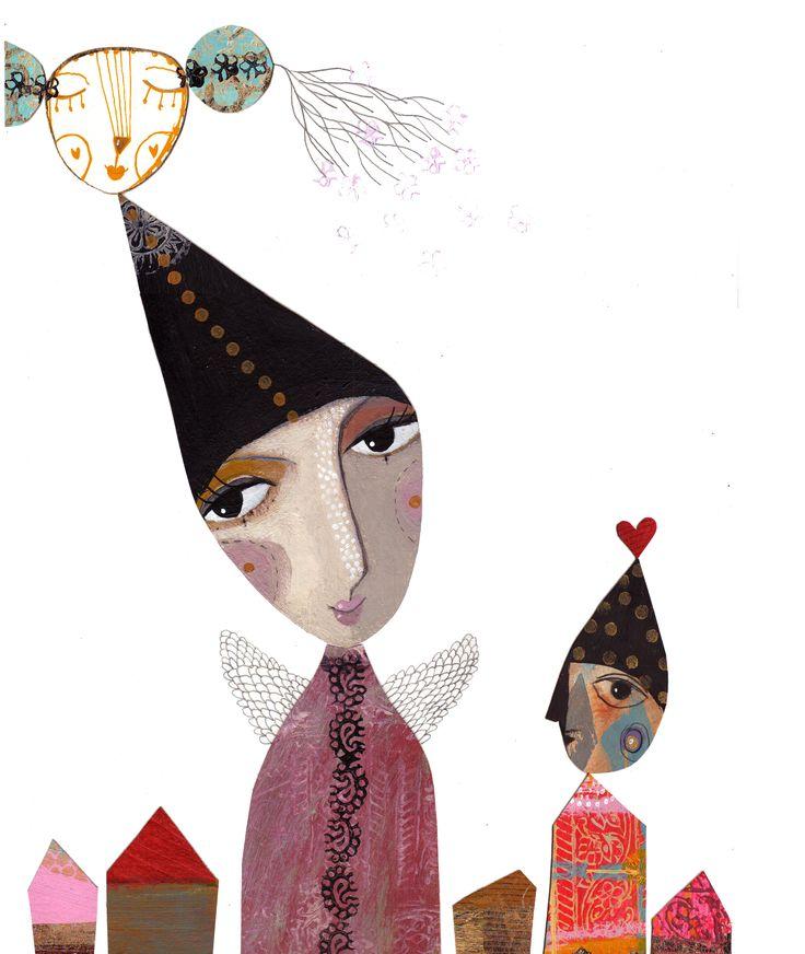 "Camilla Hyllén www.camillahyllen.com Acrylic painting ""cutout"" 2015"