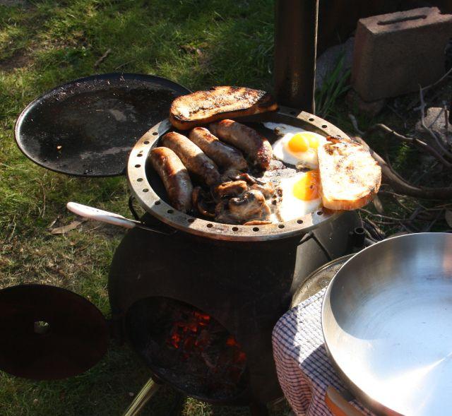 Break of bacon & Eggs on the Ozpig