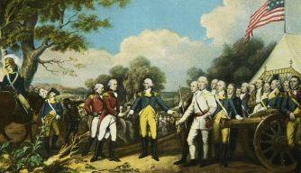 la batalla de Saratoga, John figuras militares clave puertas de Horatio Burgoyne, el general británico, general estadounidense, la revolución americana,