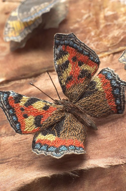 Small Tortoiseshell taken from Embroidered Butterflies