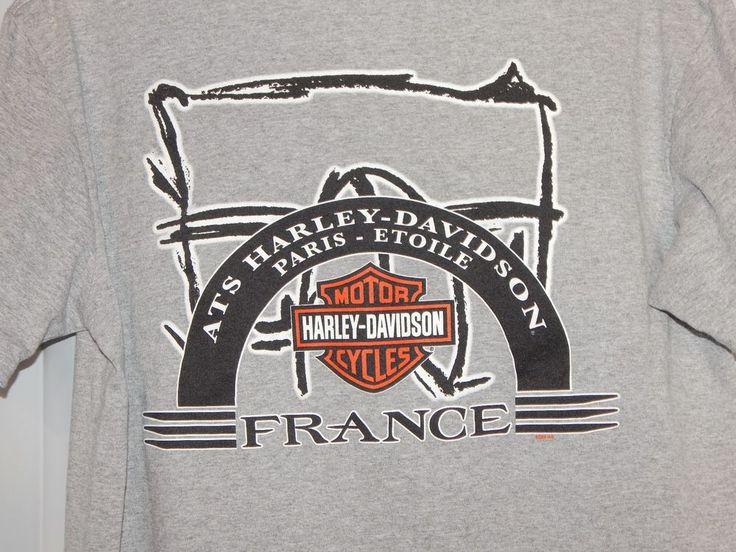 Harley-Davidson T-shirt Size Large ATS Paris Bastille France 2009 #HarleyDavidson #GraphicTee