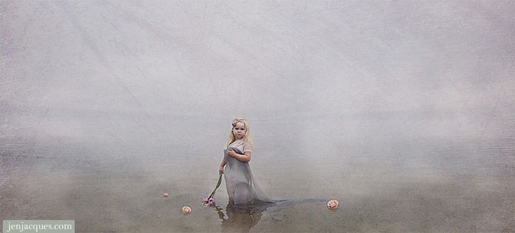 Jen Jacques » Blog » Fine Art by Jen Jacques Hollie Me water flower in the the ocean with fog