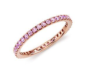 Oh, this is so pretty and it's getting closer to my price range!  Pink Sapphire Eternity Ring in 18k Rose Gold