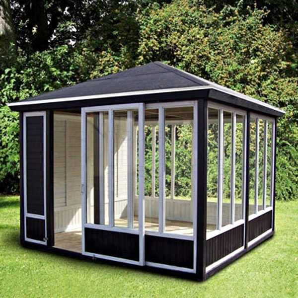 Pavillon 311 x 311 cm. - Byg selv, Træfarve - Gran - Byghjemme.dk -Billig byg og online byggemarked
