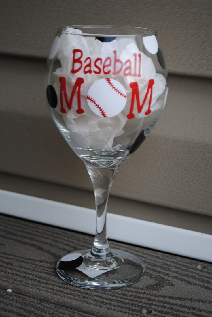baseball mom wine glasses pinterest crafts mom