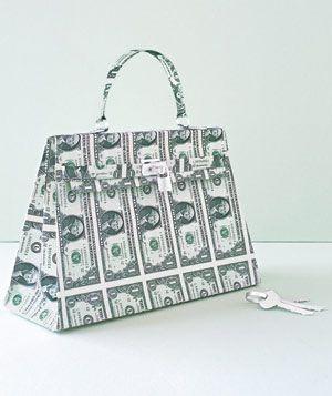 Handbag made of paper by Matthew Sporzynski for Real Simple