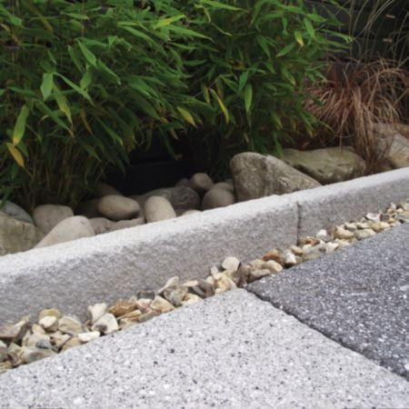 Contemporary Panache Paving Edging Silver Grey, (L)900mm (H)150mm (T)40mm Pack of 15: Image 1