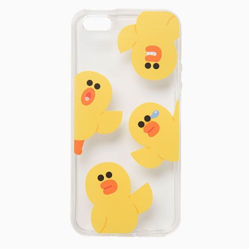 Line Friends Sally Pattern iPhone 6 6s Plus Jelly Clear Fitted Case Skin Cover #NaverLineFriends
