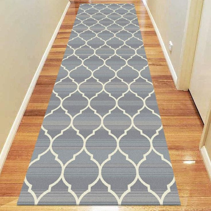 Add a stunning trellis pattern to your hallway floors with our Caldwell Lattice Grey Trellis Patterned Modern Rug