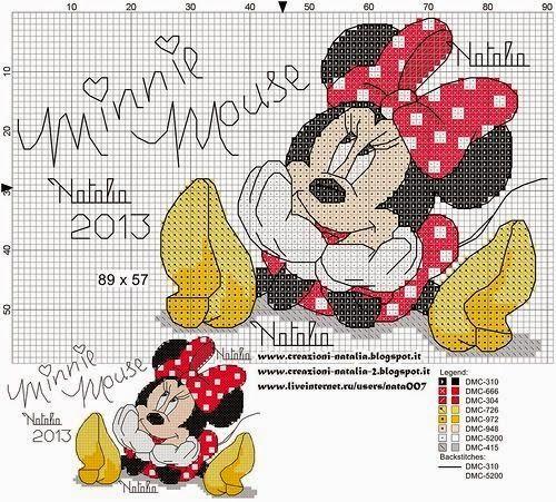 Boa semana a todos!  Começo a semana com um post para a amiga Valéria Dutra, que pediu sugestões para bordar da ratinha mas fofa da Disney: ...