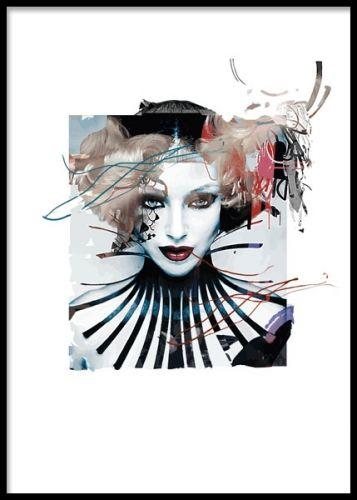 Tavla med modern digital konst. Poster med attityd. 30x40cm. www.desenio.se