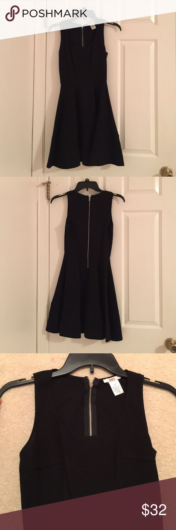 Bar III Women's Skater Dress This black fit and flare skater dress is the perfect dress for any occasion; the scoop neckline allows you to dress it up with a statement neckless and heels, or pair it with an infinity scarf, a cardigan, and some boots! Worn once. Bar III Dresses Mini