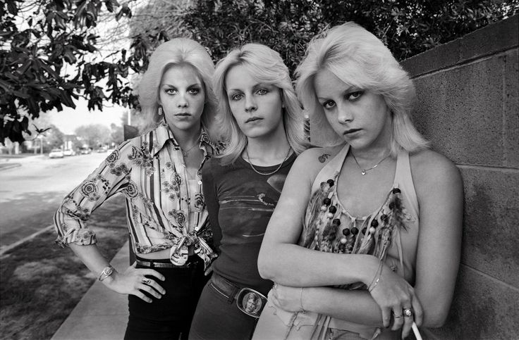 Marie Currie, Vickie Ronald, and Cherie Currie photographed by Brad Elterman – 1976