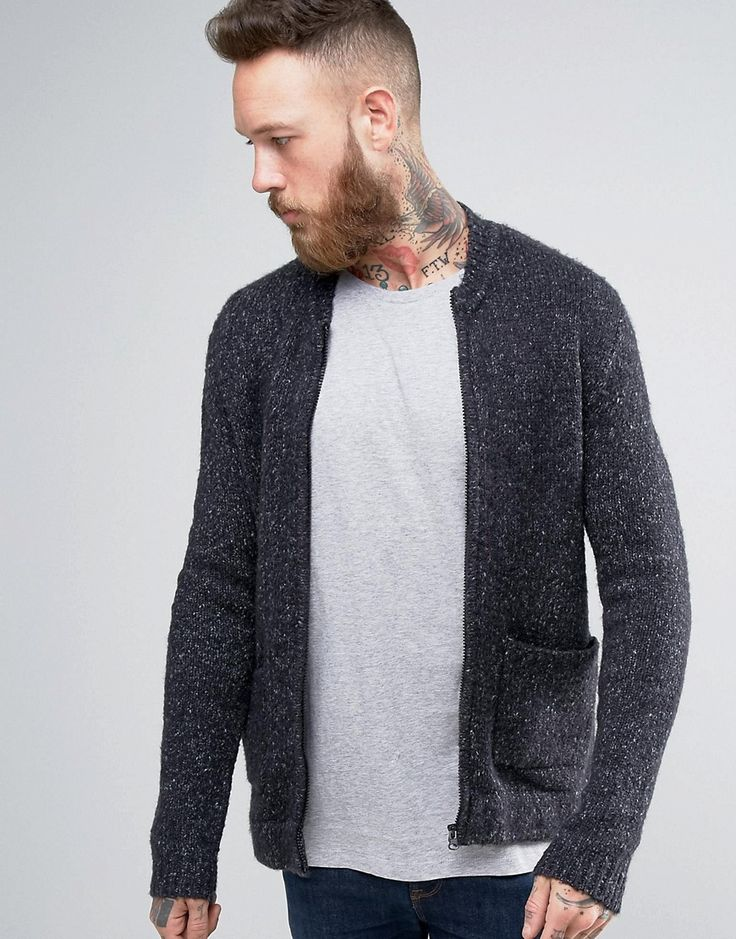 Get this Asos's knit jacket now! Click for more details. Worldwide shipping. ASOS Knitted Bomber Jacket with Elasticated Waist and Side Entry Pockets - Grey: Bomber Jacket by ASOS, Midweight knit, Ribbed collar, Zip opening, Side pockets, Ribbed trims, Regular fit - true to size, Machine wash, 69% Acrylic, 19% Cotton, 11% Nylon, 1% Elastane, Our model wears a size Medium and is 191cm/6'3 tall. ASOS menswear shuts down the new season with the latest trends and the coolest products, designed…