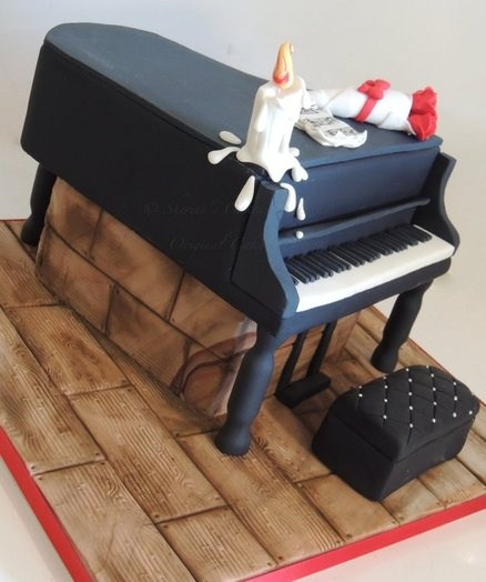 Piano cake - by ShereensCakes @ CakesDecor.com - cake decorating website