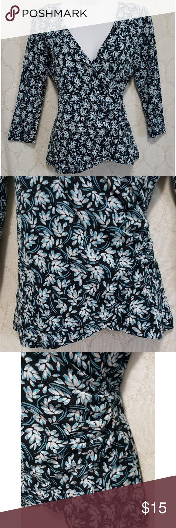 Like New Anne Taylor Loft Long Sleeve Shirt Like New Anne Taylor Loft Long Sleeve Shirt. No flaws, perfect condition. Scoop bottom front detail and ruched side. Size XS. Smoke free home!! Ann Taylor Tops Blouses