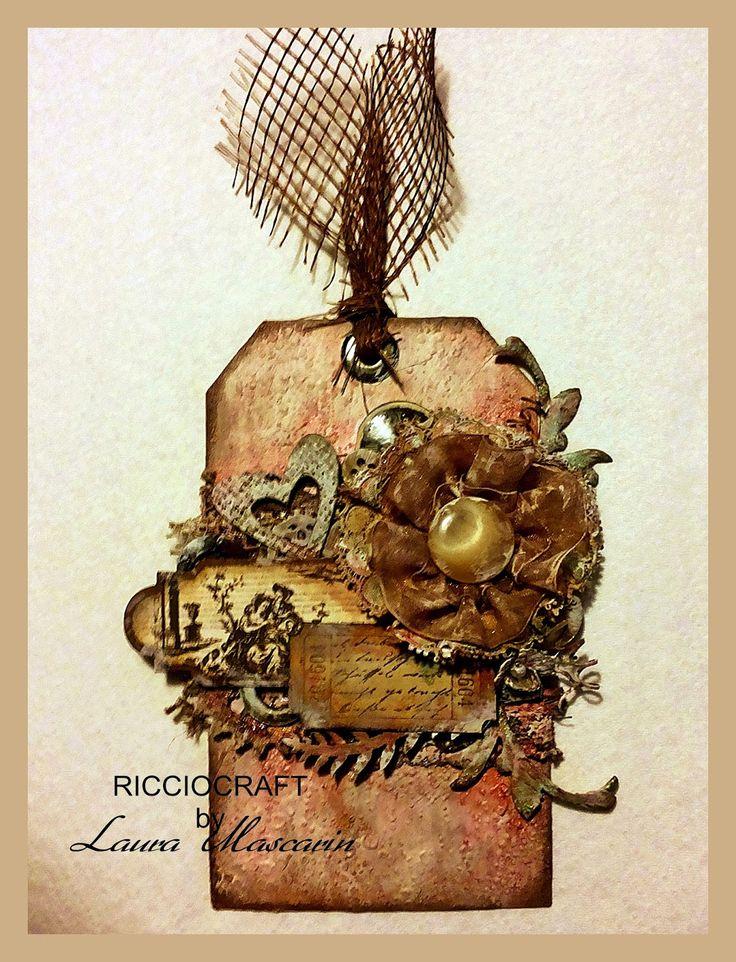 una romantica tag dallo stile vintage da ricciocraft  (Laura Mascarin)