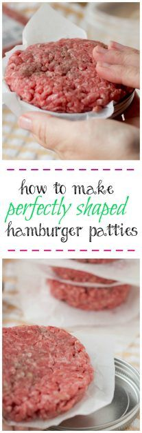 This is how to make perfectly shaped hamburger patties every time. All you need is a lid and parchment paper. This is a great way to freeze your perfectly shaped hamburger patties.