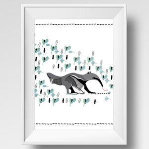 Image of Illustration fourmilier / Illustration of a anteater