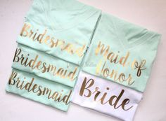 Bridal Party Shirt Set. Bridal Party by DesignsbyChristineE