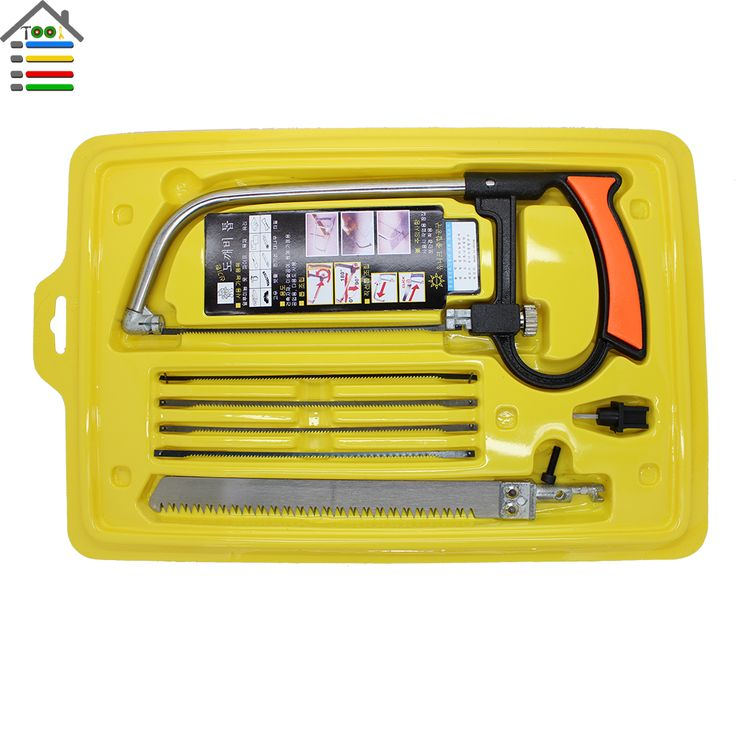 8 in 1 Sihir Saw Multi Purpose Tangan DIY Baja Melihat logam Kaca Kayu Saw Kit 6 Pisau Woodworking Metalworking Model Hobi alat