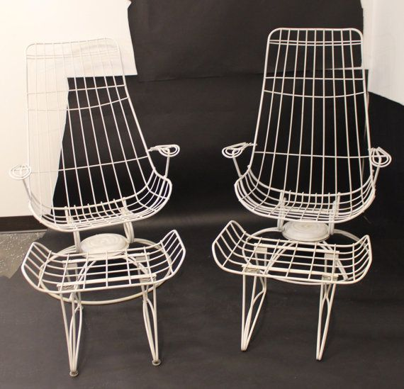 Mid Century Modern Pair Of Homecrest Patio Chairs By LeShoppe05
