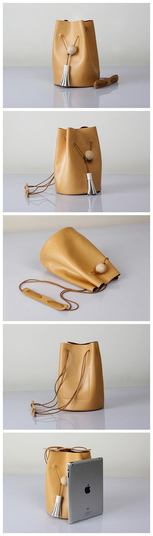 Genuine Leather Bucket Bag Shoulder Bag Women's Fashion Bag Leather Crossbody Bag Messenger Small Satchel 14126 Overview: Design: Genuine Leather Bucket Bag In Stock: 4-5 days For Making Include: Only