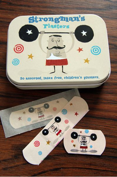 yes i love cool band aids! these strongman plasters are awesome