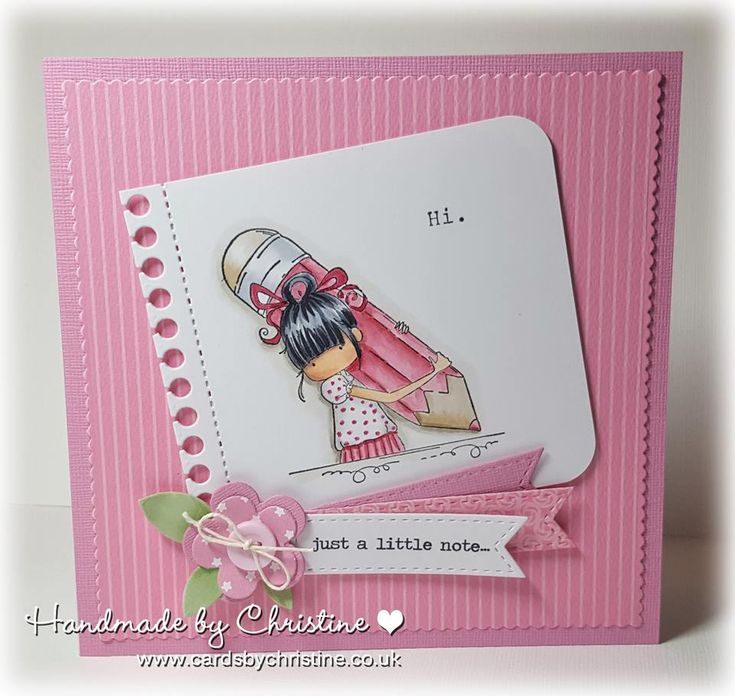 Stamping Ideas For Card Making Part - 26: Bellarific Friday With Stamping Bella Stamps- Penelope Has A Pencil Rubber  Stamp. Card By