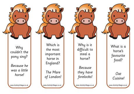 Chinese New Year Horse Joke Could Be Bookmark Or Lunch Box Note Find This Pin And More On Farm Printables