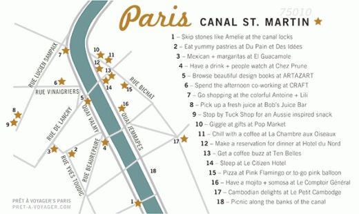 I'm teaching Maps on Skillshare so I designed a map of my favorite places in the 10th arrondissement. Sign up for the class here! http://skl.sh/S3wqIa
