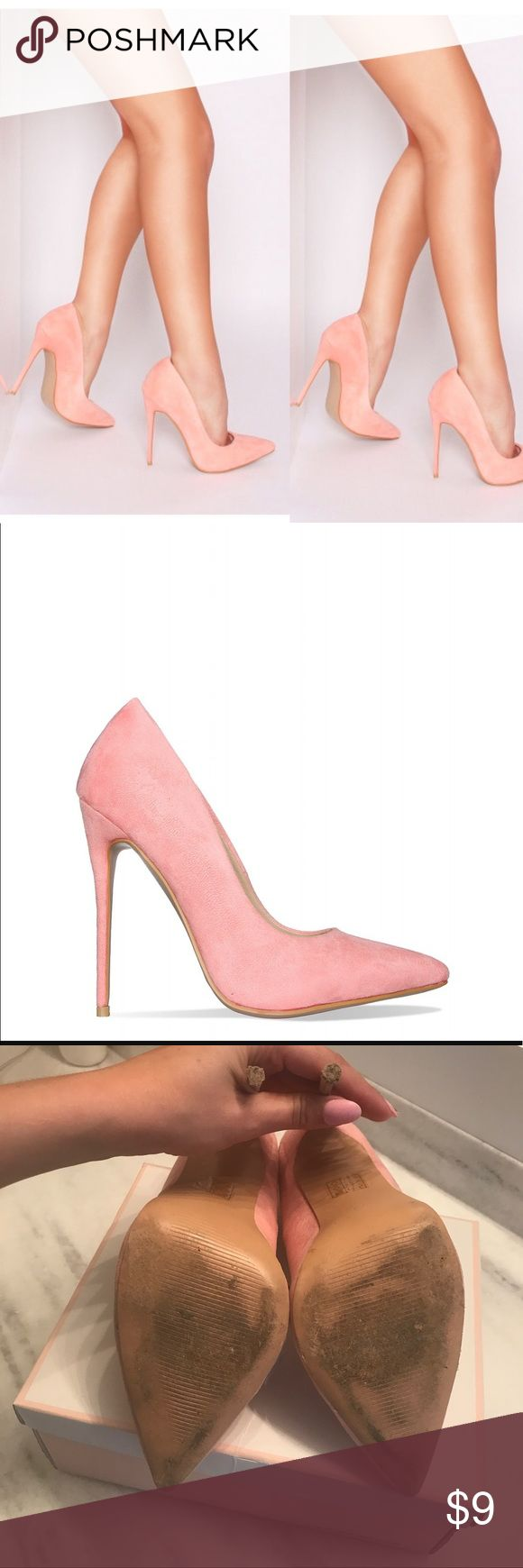 Simone Pink Suede Stiletto Court Heels From the office to a night out these stiletto court heels will show a sophisticated look. Featuring a point toe front and a killer stiletto. This wardrobe statement can be styled with a pair of denim mom jeans, a crop top with an oversized blazer.  Heel measures approximately 5 inches/ 12.7cm  Faux suede and leather upper  Fit true to size   US size 9 UK size 7 SIMMI LONDON Shoes Heels