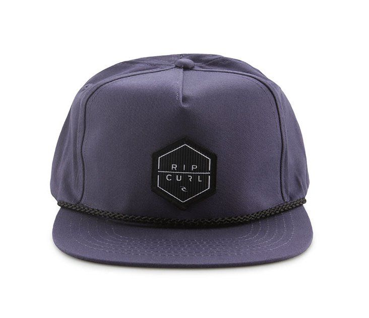 Bridge Snap Tab Cap by Ripcurl. Navy blue cap that made from cotton, Rip Curl patch in front, great accessories to complete your casual style, simple design, adjustable strap back closure. Great hat for holiday, pair it with your t-shirt and jeans for a casual style.  http://www.zocko.com/z/JI1IW