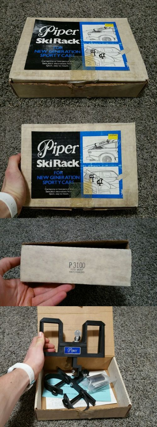 Racks and Carriers 21231: Brand New Nos Piper Ski Rack P3100 Vintage For New Generation Sporty Cars BUY IT NOW ONLY: $39.99