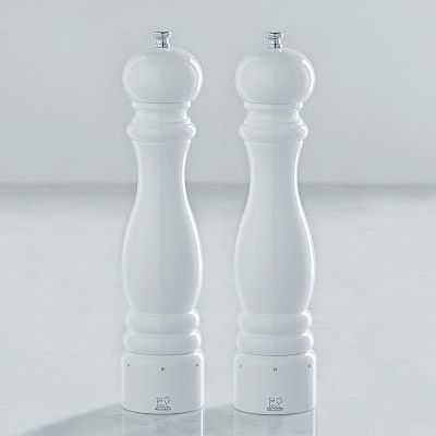 Peugeot Paris U Select White Salt & Pepper Mills Set, 12""