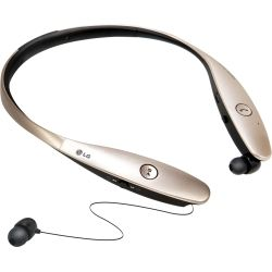 LG Mobile - TONE INFINIM Bluetooth Headphones Gold
