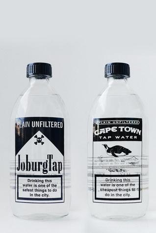 Tap water bottles