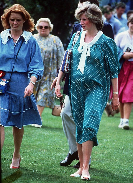 June 6, 1982: Princess Diana with friend, Sarah Ferguson at a polo match in Windsor.