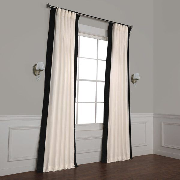 Winsor Cotton Solid Room Darkening Rod Pocket Single Curtain Panel