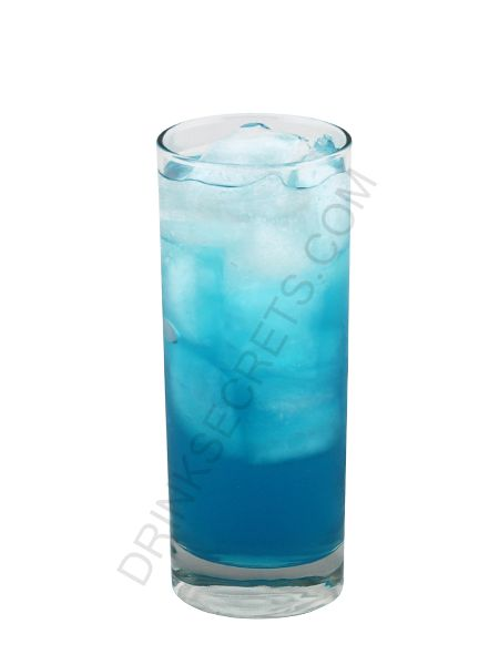 alaska iced tea   2 cl Vodka  2 cl Gin  2 cl Rum  2 cl Cointreau  2 cl Blue Curacao Liqueur  Sprite  Mixture:    1. Fill a highball glass with ice.    2. Pour all the alcohols over the ice and top up with Sprite.    3. Stir gently.    4. Serve.