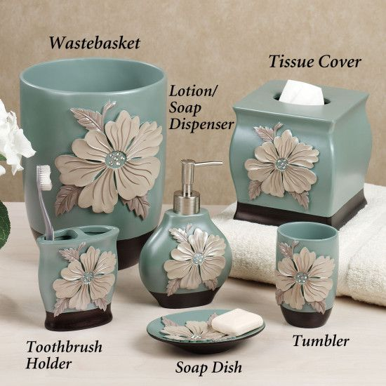 bathroom flower blossom bathroom accessories bathroom wastebasket bathroom tumbler bathroom toothbrush holder bathroom soap dish bathroom tisue cover