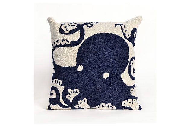 Blue Home Accents Indoor/Outdoor Pillow by Ashley Furniture