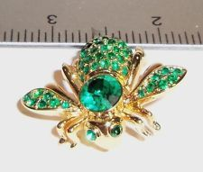 Редкий в отставке joan rivers classics collectionemerald зеленый камень мая пчела булавка