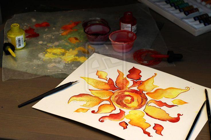 Custom Sun Tattoo by StickyRicePlatter