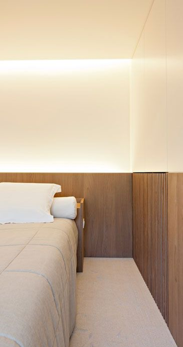 :: BEDROOMS :: Lovely interior by interior architect Frederic Kielemoes. Love the simple continuous panelling makes for a perfect headboard detail.  #bedrooms #FredericKielemoes #interiors