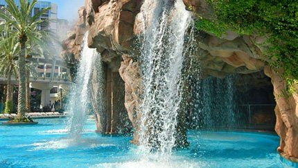 Las Vegas Flamingo Hotel pool!