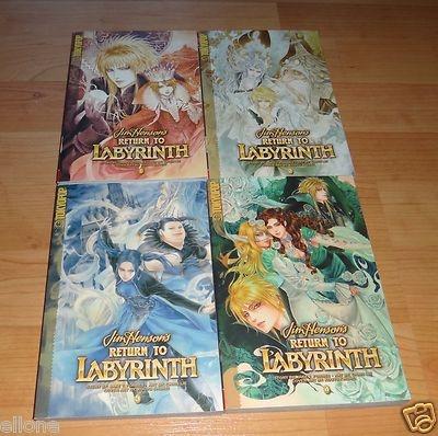 Jim Henson's Return to Labyrinth 1 2 3 4 manga book lot