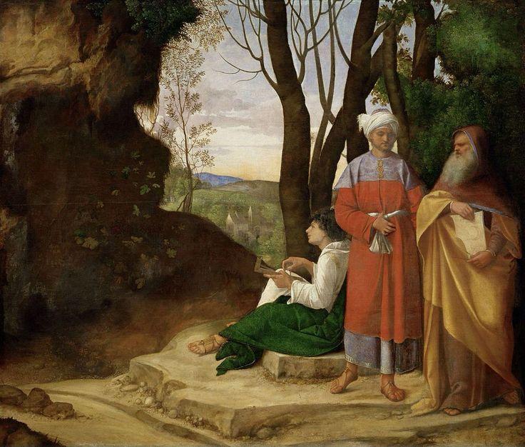 I Tre Filosofi Autore:Giorgione Data:1506-1508 Dove:Kunsthirisches Museum Vienna