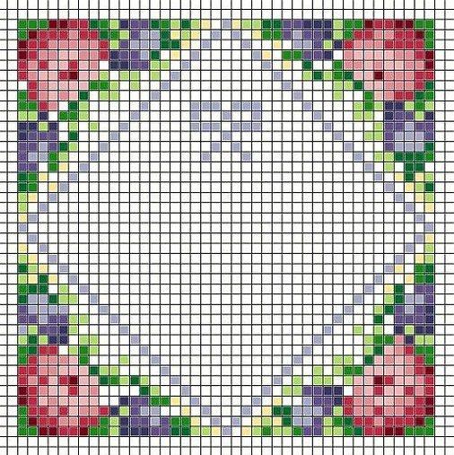 Biscornu pattern by  Gloria C. - http://www.il-mondo-di-ezechiele.com/